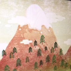 New work is coming soon :) dedicated to all mountain travelers #illustration #art #mountain #forest #furtree #snow #ps #sky #clouds #top #traveler #hiking