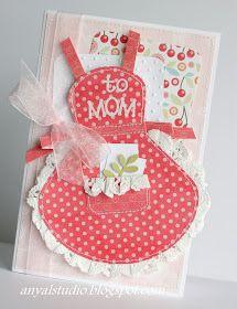 29 Super Ideas birthday card for her creative mothers day Mom Cards, Fathers Day Cards, Cute Cards, Step Card, Tarjetas Diy, Happy Mother's Day Card, Dress Card, Shaped Cards, Cricut Cards