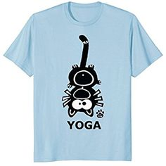 Cat Yoga T-Shirt Funny Kitty Exercise Humor Kitten Positions
