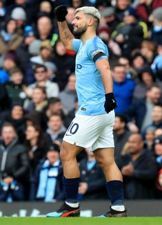 Sergio Aguero of Manchester City celebrates after scoring his team's third goal during the Premier League match between Manchester City and Chelsea FC at Etihad Stadium on February 2019 in. Get premium, high resolution news photos at Getty Images Soccer Guys, Soccer Ball, Football Players, Manchester England, Manchester United, Argentina Players, Manchester City Wallpaper, Zen, Fantastic Wallpapers