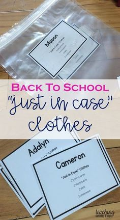Back to School: Just In Case Clothes
