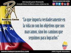 """#RomarcaEnvios #Reflexion del día. Del mundo para Venezuela #Transferimos el dinero como si fueras tú"""""""