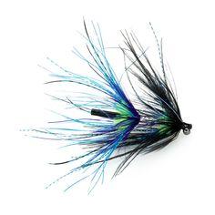 CK Steelhead Intruder Tube, black, blue & chartreuse. Die perfekte Fliege für die Fischerei auf Steelhead und Silberlachs in BC. Länge: ca. 9 cm Steelhead Flies, Fly Fishing, Blue, Store, Brown Trout, Salmon, Larger, Fly Tying, Shop