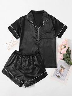 Cute Pajama Sets, Cute Pjs, Cute Pajamas, Silk Pajamas, Pyjamas, Cute Sleepwear, Sleepwear Women, Pajamas Women, Cute Comfy Outfits