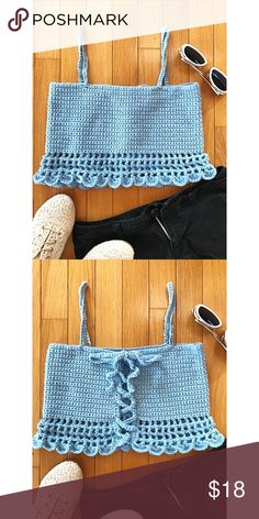 Crochet Summer Tops, Crochet Crop Top, Crochet Halter Tops, Cute Crochet, Crochet Bikini, Crochet Top Outfit, Crochet Clothes, Crochet Fashion, Diy Fashion