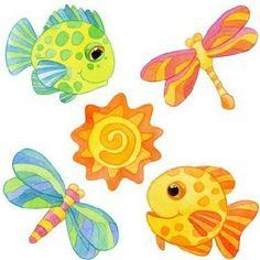 Fish and dragonfly : clipart - ari. - Picasa Web Album
