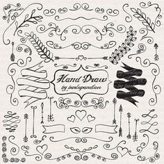 Check out Hand draw ornaments by burlapandlace on Creative Market