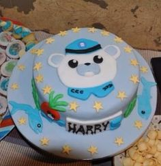 Captain Barnacles Octonaughts cake for my sons 5th birthday. Yummmm