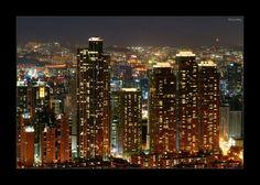 Vista nocturna de Seúl