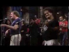 Joe Cocker and John Belushi - Feelin' Alright  It's not the full video but it makes me smile.