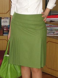 5+1 Pleats Skirt with Asymmetrical Front Yoke PDF Pattern & Instructions by Anajan (BurdaStyle)