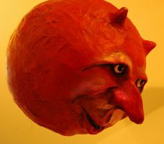 "Sculpture Gallery: Papier Mache Heads (""Moons"") by Tom Fletcher"