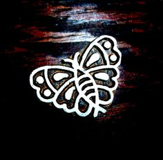Butterfly Hand Carved Wood Stamp Animal Indian by PrintBlockStamps, $6.95