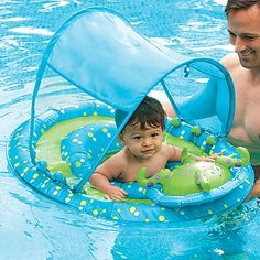 The Baby Pool Spring Float Activity Center is a sturdy baby pool float. The sun blocking canopy has three positions so it can move as the day goes on. Regalo Baby Shower, Baby Float, Family Pool, Big Family, Baby Pool, Pool Floats, Pool Toys, Outdoor Toys, Outdoor Fun