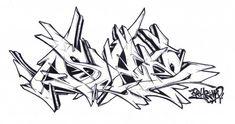 Sketch By Asher - Nantes (France) - Graffiti - Font Art, Wildstyle, Graffiti Pens, Graffiti Lettering Fonts, Samurai Artwork, Found Art, Graffiti Wildstyle, Love Graffiti
