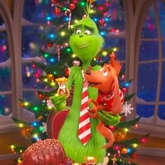 "In the TV special ""How the Grinch Stole Christmas!"" and in movies like ""The Grinch,"" it's endearing dog Max who has the biggest heart of all. Grinch Christmas Decorations, Grinch Stole Christmas, Disney Christmas, Christmas Movies, Christmas Art, Wallpaper Natal, Christmas Phone Wallpaper, Holiday Wallpaper, Iphone Wallpaper"