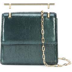 M2malletier mini metallic effect crossbody bag (95.370 RUB) ❤ liked on Polyvore featuring bags, handbags, shoulder bags, green, green purse, mini crossbody handbags, green cross body purse, green shoulder bag and metallic handbags