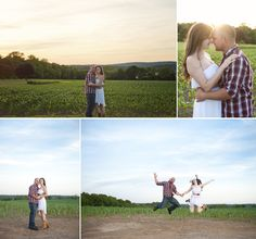 Some favorites from Jennyfer & Josh's harford county md engagement session! marlaynaphotography.com  Amazing sunset and fun jumping photo with this fantastic couple! :)