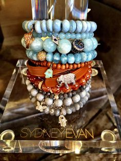 Cool, calm and collected in these neutral #colors we love! #STACKED in #babyblue #tan and #grey