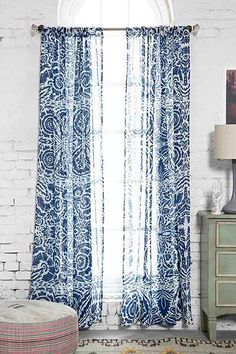 Magical Thinking Lino Floral Curtain - Urban Outfitters