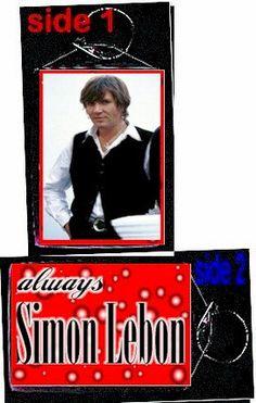 Duran Duran Simon Le bon  always keychain by sherah50 on Etsy, $6.50