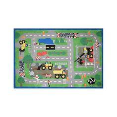 Jumbo Tonka Interactive 5 x 7 foot Area Rug - GA Gertmenian - Rugs - FAO Schwarz® Boys Room Decor, Kids Room, Craft Activities For Kids, Crafts For Kids, Car Play Mats, Man Room, Rugs Usa, Toys R Us, Contemporary Rugs