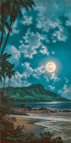 Full Moon Beautiful Waikiki Hawaii
