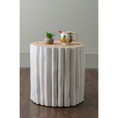 East At Main& Stanley White Round Teakwood Accent Table/Stool Furniture Deals, Table Furniture, Living Room Furniture, Furniture Outlet, Online Furniture, Coastal Furniture, Round Accent Table, Round Stool, Accent Tables