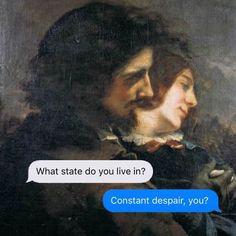 Klassische-Kunst-Dark-Humor-April-Eileen-Henry-Texte-From-Your-Existentialist – … - Classic Art Renaissance Memes, Medieval Memes, Dark Humour Memes, Dark Memes, Dark Humor Quotes, Humor Humour, Funny Art, Funny Memes, Hilarious