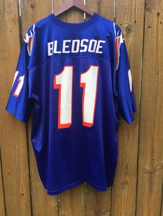 960f62d4708 Vintage Logo Athletic New England Patriots DREW BLEDSOE Jersey #11 Throwback