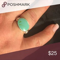 🎁BF-SALE 45%⬇️Faux turquoise & silver ring *Faux turquoise & silver ring size 9. 🔴Price is FIRM❣️but you can bundle & save! This is the Lowest price for this item❣️❣️ ☑️I ship same or next day!! Jewelry Rings
