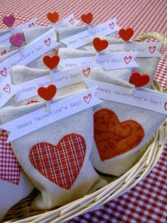 Homemade goody bags are perfect for school or Sunday school valentines.
