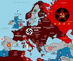 ww2 nazi German Germany ww2 map poster