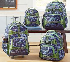 Mackenzie Blue Dino Backpacks | Pottery Barn Kids