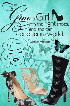 """""""Give a girl the right shoes and she can conquer the world."""" ~ Marilyn Monroe quote. These butterfly shoes need to be mine! Click for more ideas #shopthelook #DateNight #GirlsNightOut"""