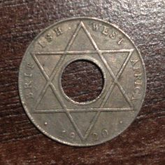 British West Africa Penny 1920 West Africa, Coins, British, Symbols, Letters, Coining, Letter, Fonts