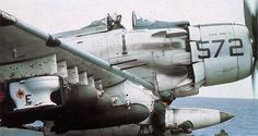 """zainisaari: """" TOILET BOMBThe U.S. Navy Douglas A-1H Skyraider (NE-572, BuNo 135297) """"Paper Tiger II"""" of VA-25 being readied for a mission over the Mekong Delta in October 1965. To commemorate the mark..."""
