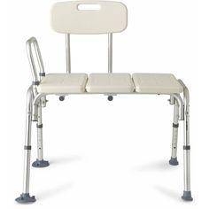Medical Transfer Bench w/ Reversible Backrest 300lb Seat Chair Bath Tub Shower  #MedicalTransferBench