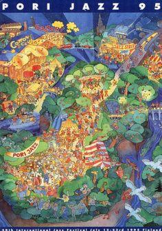 Pori Jazz 1995 Postikortti. - Huuto.net