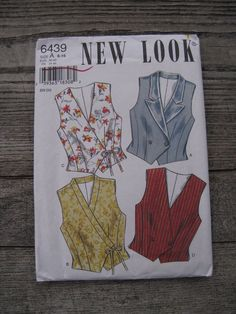 vintage simplicity new look sewing pattern 6439 size A 6 -16  uncut factory folded 1995 fashion