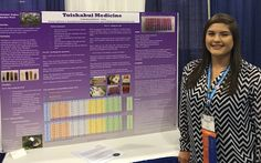 Native American student links science and culture by proving hypothesis that traditional chokecherry pudding is medicine that inhibits uterine cancer cells.