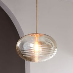Ripple Glass Pendant - Oval | west elm/ This one is beautiful... Not sure where, probably too big for any of the places we're thinking but...