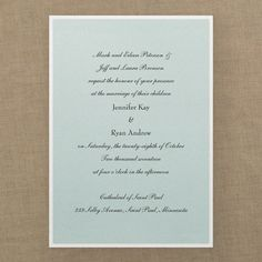 Classic Creation Invitation - Choose Your Color - Wedding Invitations - Wedding Invites - Wedding Invitation Ideas - View a Proof Online - #weddings #wedding #invitations