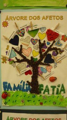 """Árvores dos Afetos - escola e família de """"mãos dadas"""" - Cativar na Escola"""