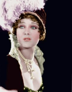 Dolores Costello  Glorious Betsy - (1928)  Colorized by unknown artist