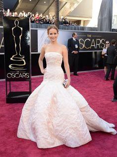 Jennifer Lawrence bij de Oscars in 2014