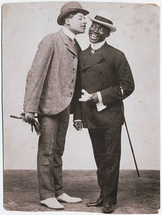The Kings of Comedy | 1898 Photograph of Bert Williams (left) and George Walker, ca. 1898. Bert Williams (1874-1922) was one of the preeminent entertainers of the Vaudeville era and one of the most popular comedians (of any race) at the time.