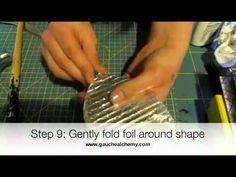 Faux metal using foil  Technique - video tutorial