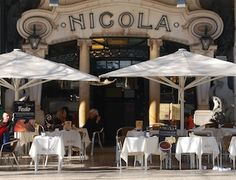 (Traditional Coffee Houses) Café Nicola was also a Lisbon's literary and political meeting points when opened in 1929 that still maintains part of its past in its art deco facade.