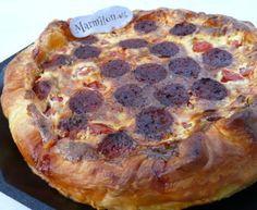Quiche chorizo et tomates : Recette de Quiche chorizo et tomates - Marmiton